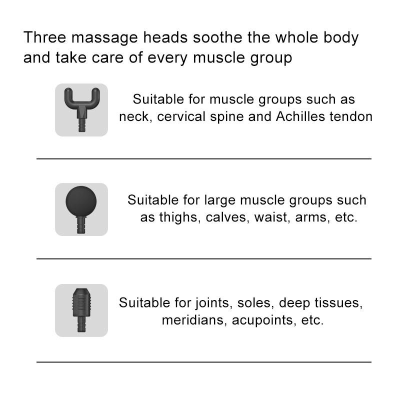Three massage heads